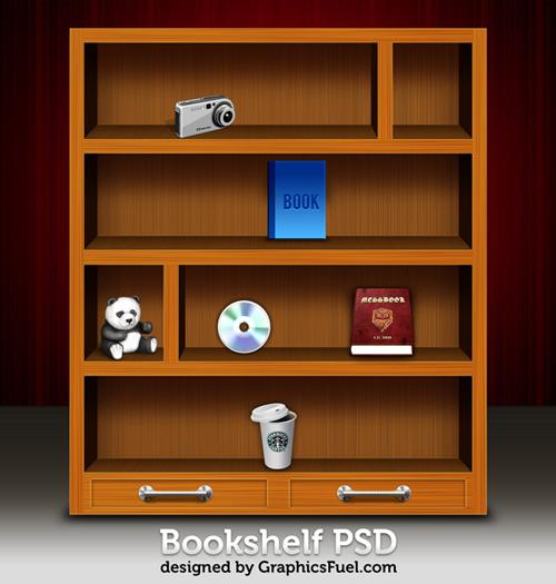PSD GRATIS: librero de madera para editar en Photoshop ...