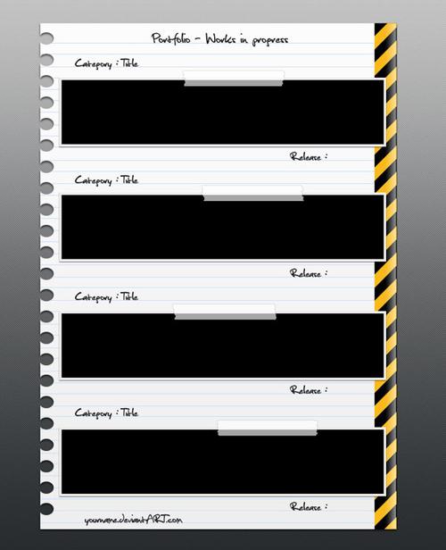 PSD GRATIS: Plantilla de Portafolio para CV en diseño de hoja de ...
