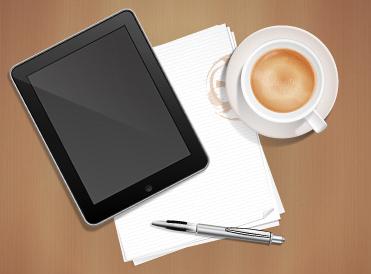 Psd gratis escritorio de oficina con documentos lapicero for Follando en la oficina gratis