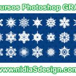 Set de 21 copos de nieve para diseños navideños GRATIS