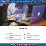 Free Web Site Template STUDIO DIGITAL