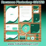 Vector editable illustrator Identidad Corporativa Verde logo empresa, tarjeta de presentación, hoja membretada, sobre, DVD, Gafete, Identificación personal; en tonalidades verdes DESCARGA GRATIS