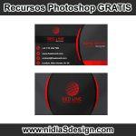 Formato de archivo .PSD para Photoshop, es un template o plantilla muy sencilla de personalizar con tus datos. Es tuya!