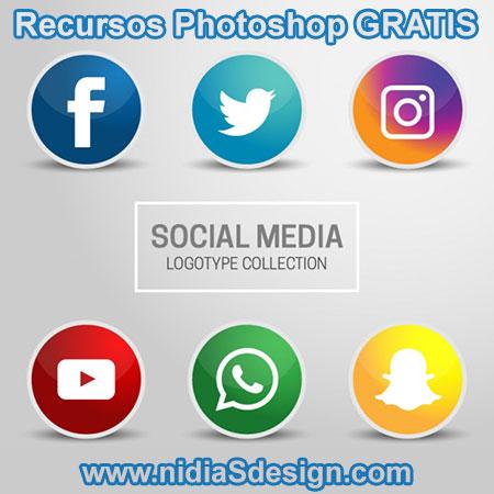 Eps Vector Gratis Colección De Logotipos Social Media Seis íconos