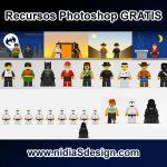 En esta ocasión te presentamos esta plantilla de personajes LEGO en un archivo de formato .PSD editable en Photoshop.