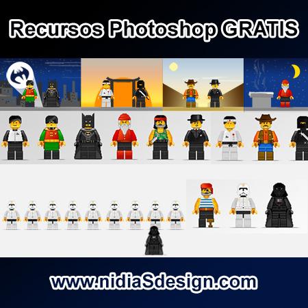 PSD GRATIS: Template Personajes estilo LEGO plantilla characteres ...