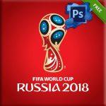Porque sabemos que lo necesitas, aquí te dejamos el logotipo en vector: Russia 2018 World cup de *FIFA con fondo rojo, Mockup template archivo formato .PSD editable en Adobe Photoshop.