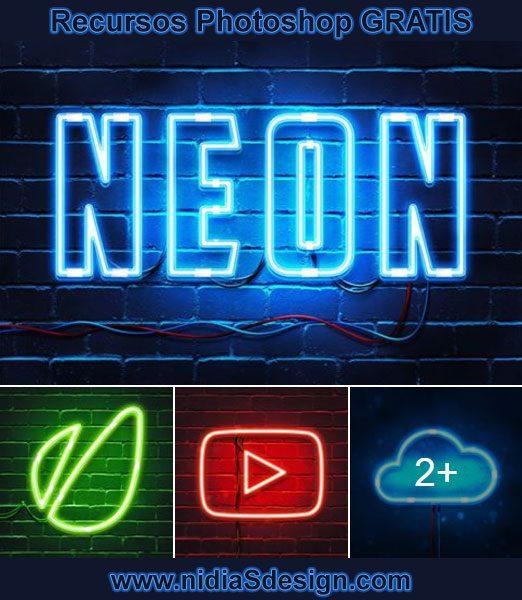 PHOTOSHOP ACTION GRATIS: Aplica efecto texto luz de neón
