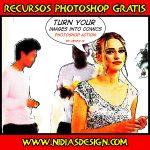 Acción Photoshop para convertir tus fotos en imágenes de comic