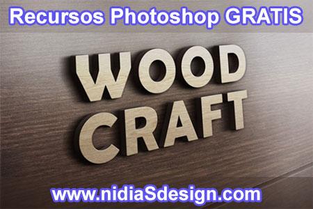 Simplemente coloca tu logotipo, texto, imagen o ilustración (entre otros) dentro de la capa de objeto inteligente y obtendrás este gran y artístico efecto de logotipo repujado en madera en 3D. ¡Diviértete con eso!