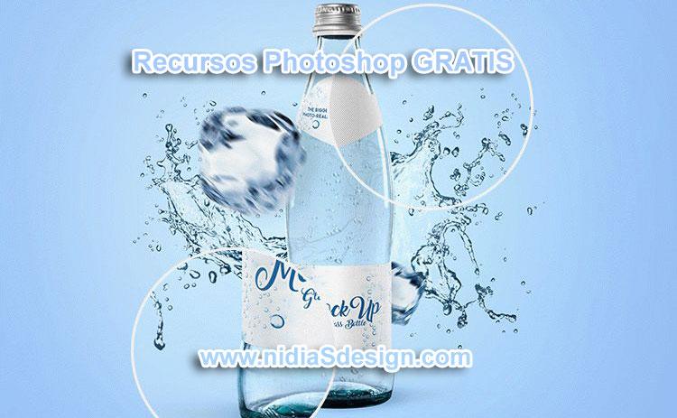 PSD GRATIS: Mockup Template Botella de agua de vidrio   Recursos ...