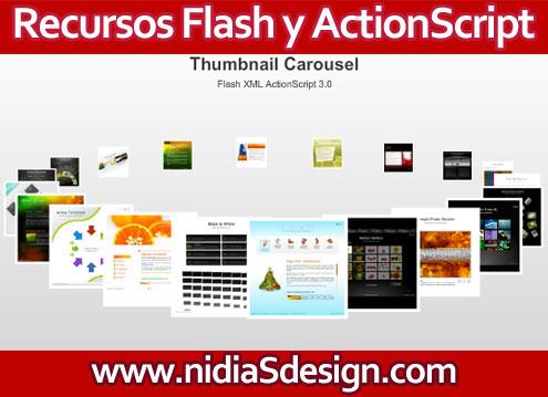 Template Flash GRATIS: Menú en Carrusel de imágenes interactivo con XML y Action Script   3.0 editable y con TODOS los archivos incluidos