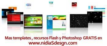 Plantilla flash GRATIS: Carrusel de galería de imágenes mini ( thumbnails) menú animado